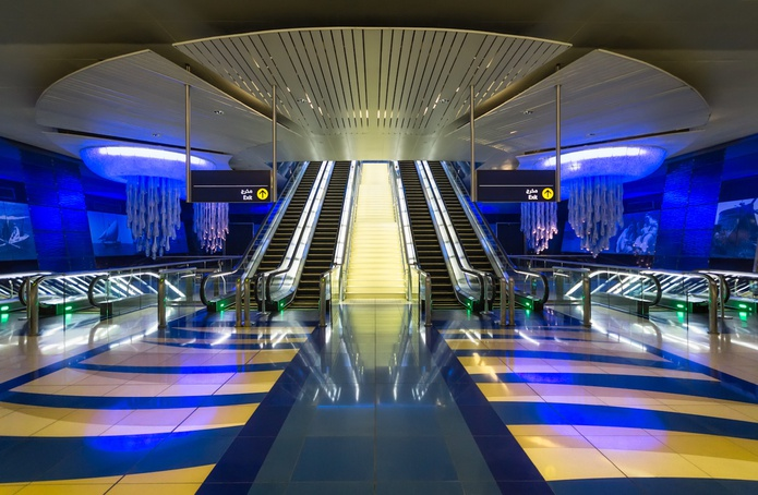 Dubai Metro station interior design