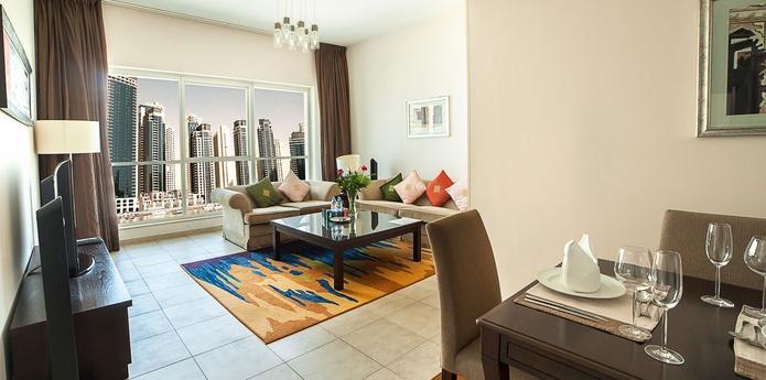 Dusit Residence Dubai Marina living room
