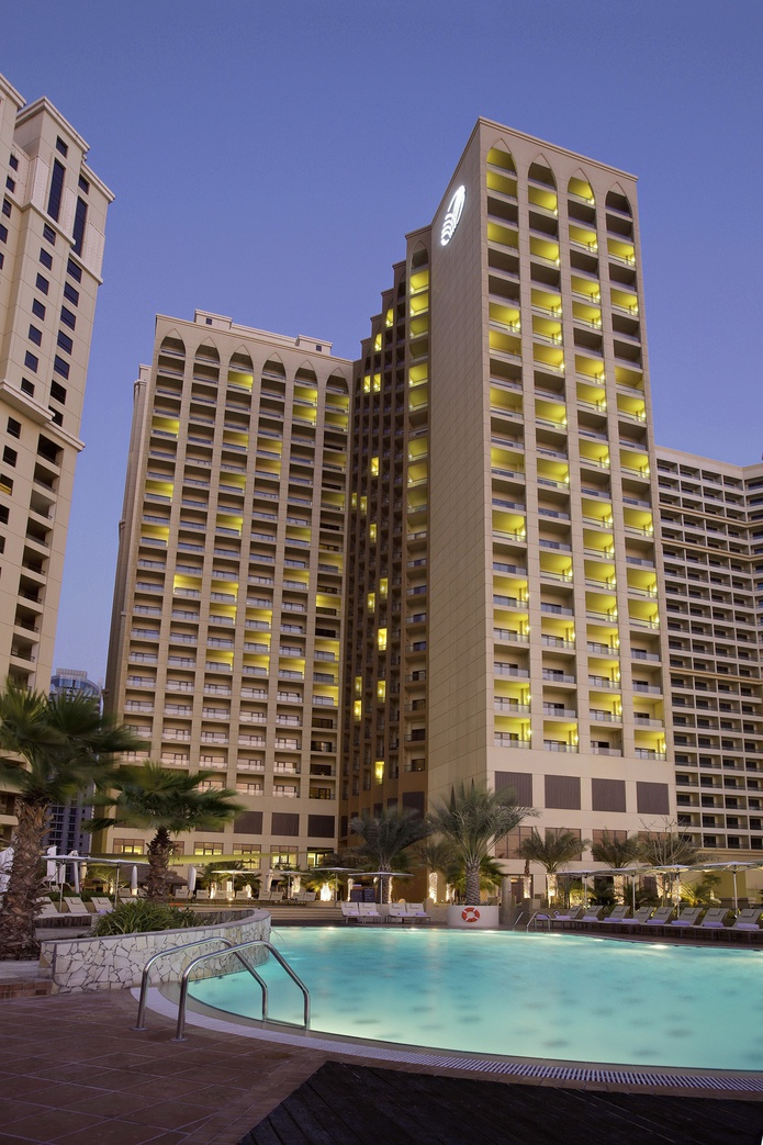 Amwaj Rotana and swimming pool