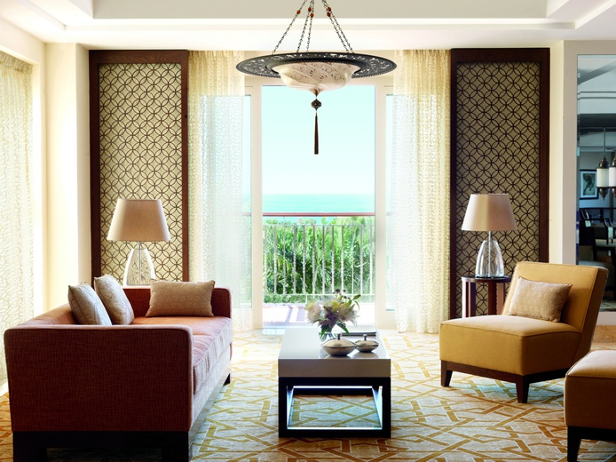 The Ritz-Carlton Dubai suite with balcony