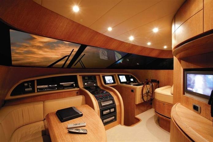 Maiora yacht cockpit