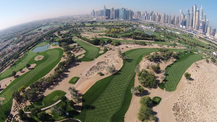 Emirates Golf Club aerial