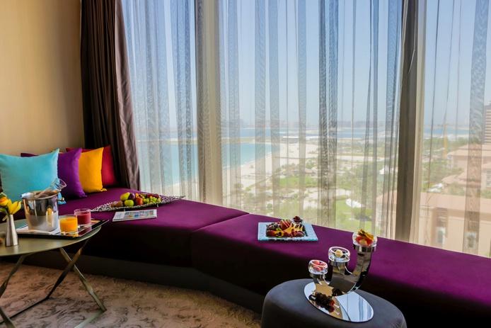 Rixos Premium Dubai Premium Room window sofa