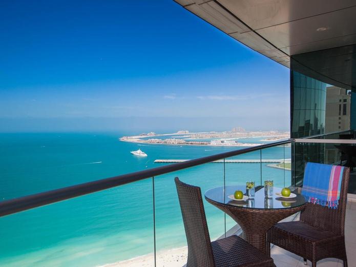JA Oasis Beach Tower One Bedroom Balcony