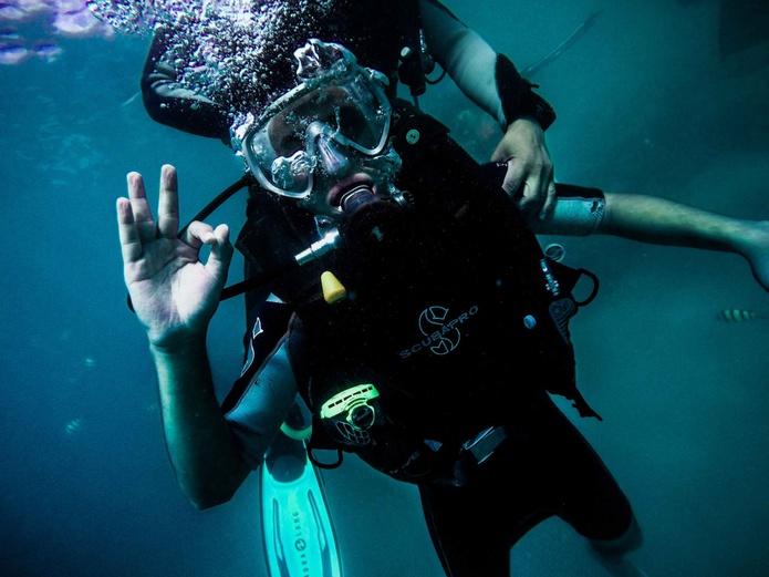 Try scuba diving in Dubai