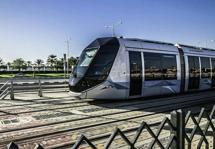 Dubai Tram in Dubai Marina