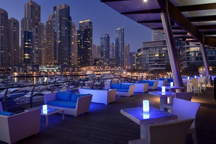 Aquara Lounge Evening terrace