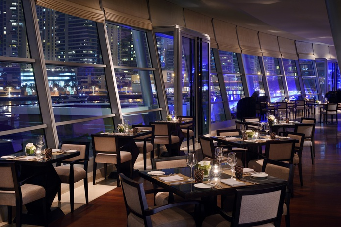 Aquara Restaurant Evening Indoors
