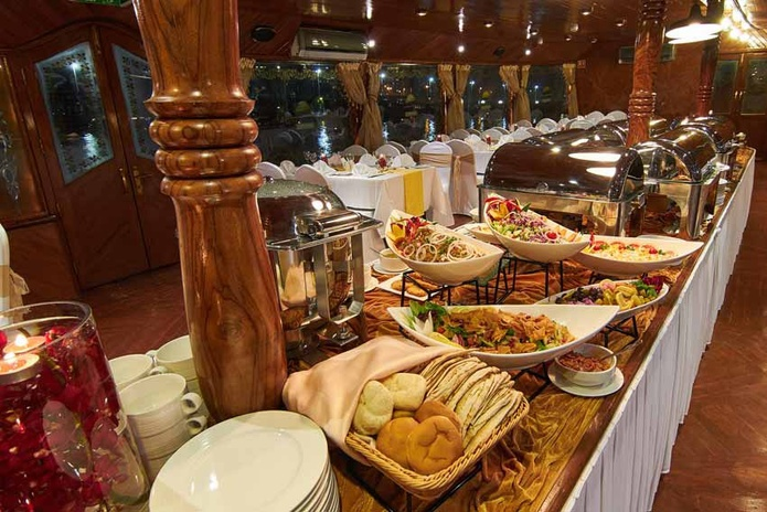 Al Wasl Dhow Dinner Cruise food all you can eat