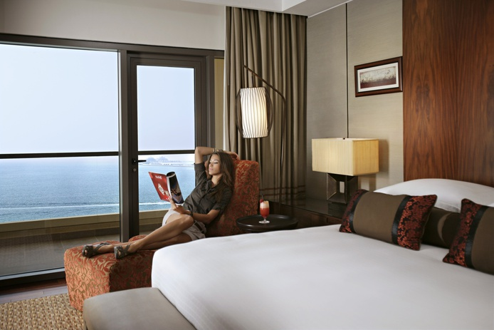 Amwaj Rotana with a girl and sea views