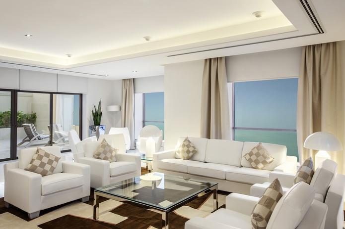 Hilton Dubai The Walk penthouse master lounge