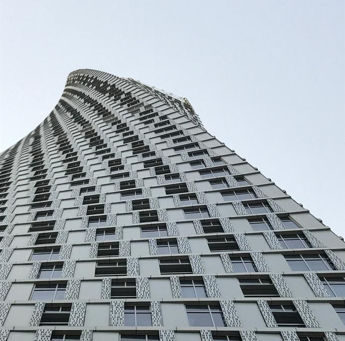 Cayan Tower facade details