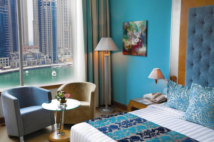 Marina Byblos Hotel room with Dubai Marina views