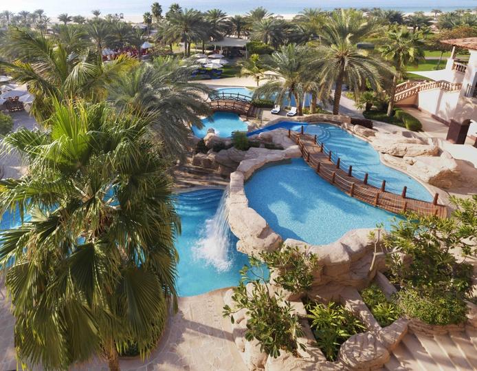 The Ritz-Carlton Dubai resort aerial