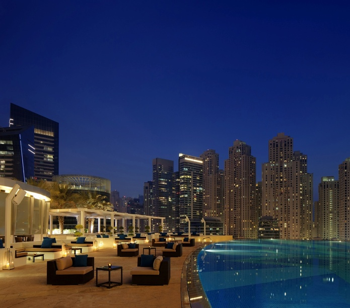 Shades rooftop bar in Dubai