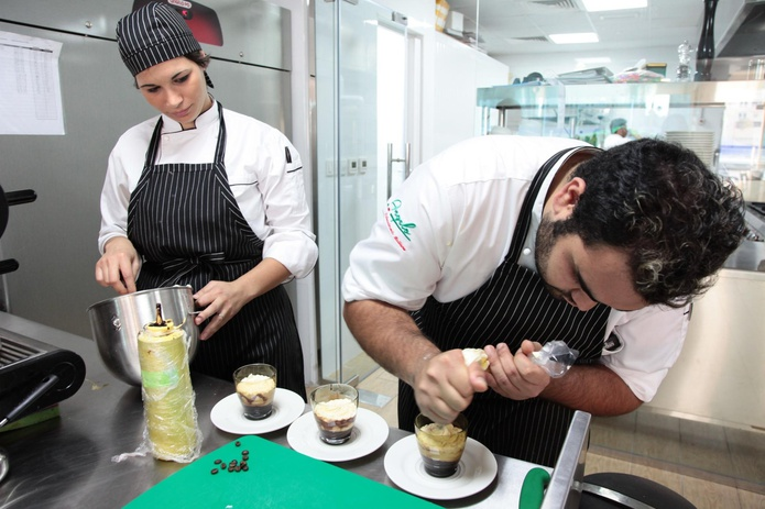 Chefs at work at Angelo Naturalmente Italiano