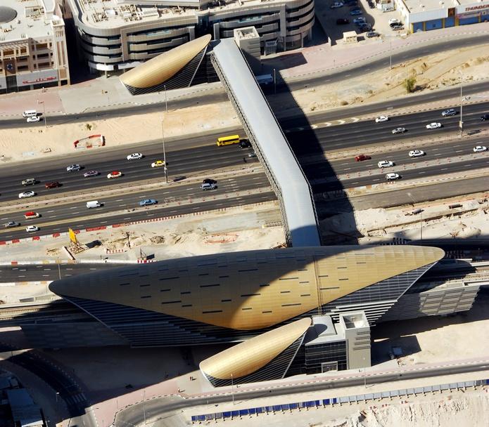 Aerial photo of the Dubai Metro