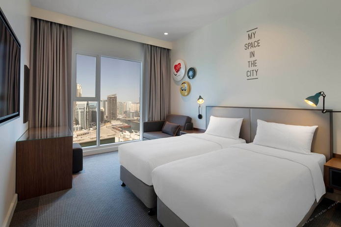 Rove Dubai Marina bedroom