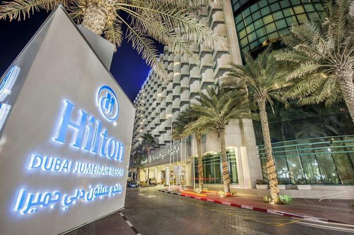 Hilton Dubai Jumeirah Resort sign