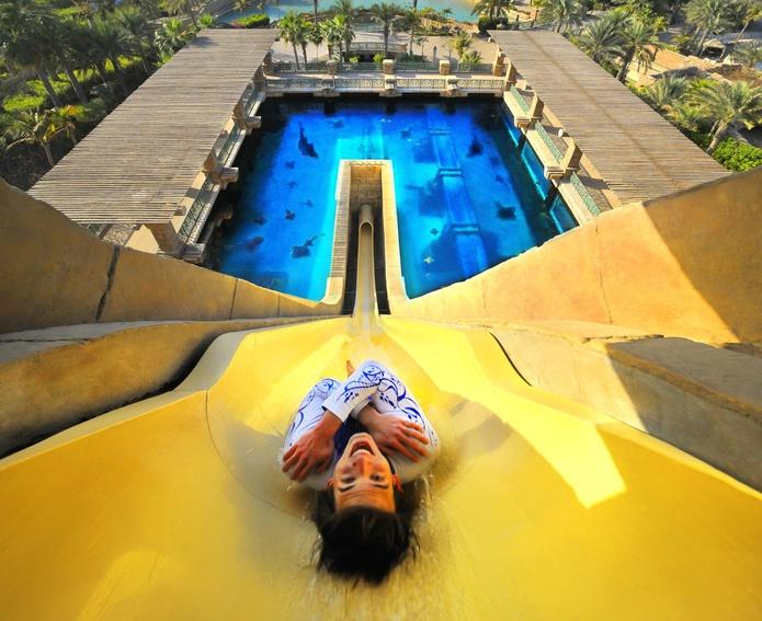 Dubai Atlantis Aquaventure Waterpark crazy slide