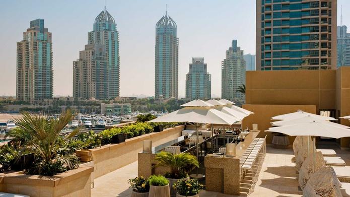Siddharta Lounge by Buddha Bar with Dubai Marina panorama