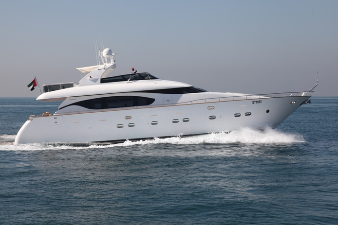 Maiora yacht in Dubai on the open seas