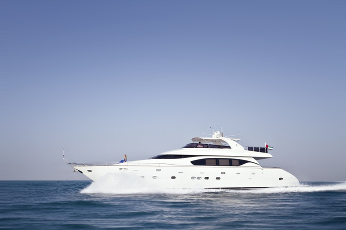 84 FT Yacht cruising on the Arabian Sea