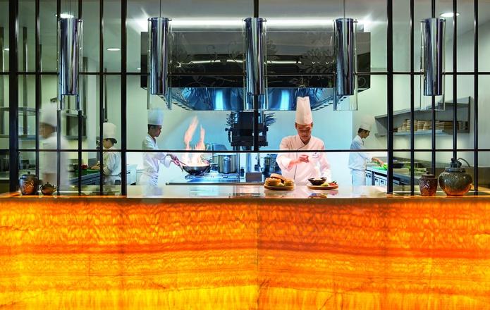 The Ritz-Carlton Dubai live cooking