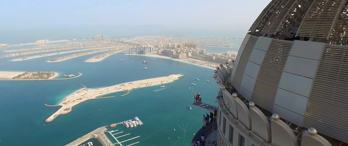 Palm Jumeirah views from the top of Princess Towers