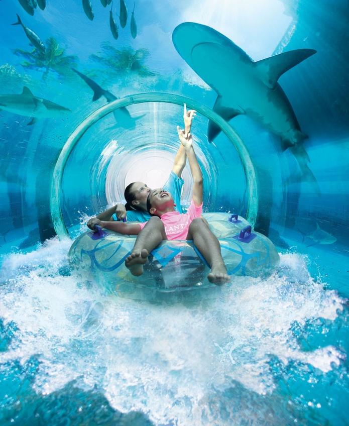 Shark Lagoon water slide in Dubai