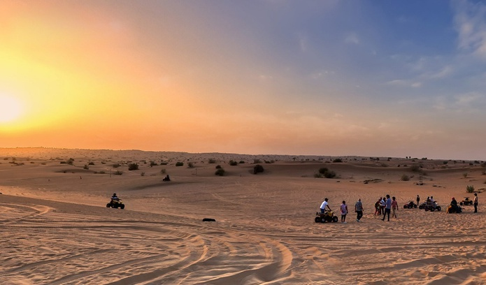 Explore the desert on a quad bike