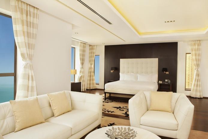 Hilton Dubai The Walk penthouse bedroom