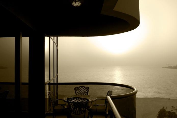 Balcony overlooking the Arab ian Gulf