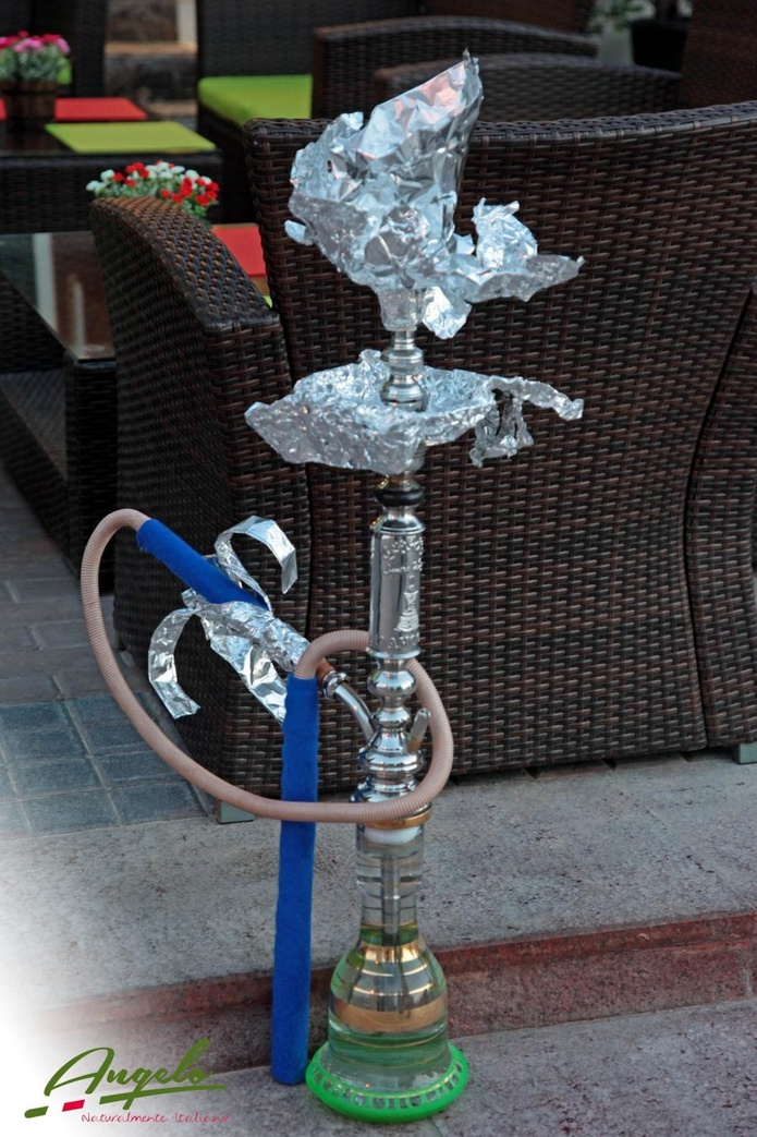 Shisha at Angelo Naturalmente Italiano