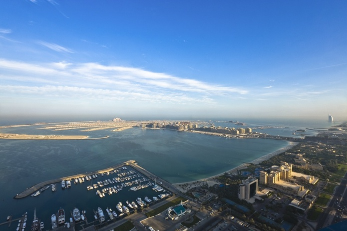 Dubai Marriott Harbour Hotel and Suites panorama