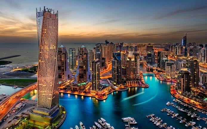 Dubai Marina High Resolution Wallpaper